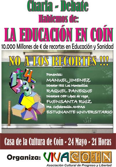 Charla sobre la educación en Coin